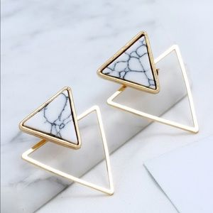 🖤Coming Soon🖤 Double Triangle Marble Earrings